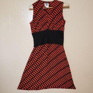 Versace versus striped v cut dress